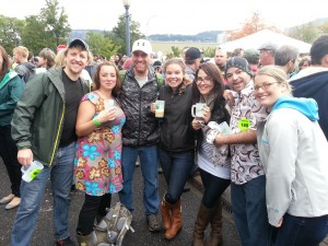 The gang at the Hood River Fresh Hop Festival 2013