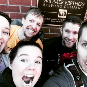Joy, Jeffrey, Joe, Adam and I at Widmer!