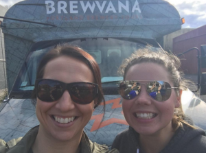 Beckie and I on a Brewvana tour.